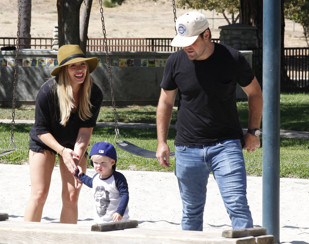 Hilary Duff and Mike Comrie had an adorable playdate with their son, Luca, at an LA park.