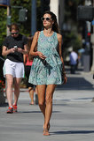 Alessandra Ambrosio looks pretty in prints on the streets of LA.