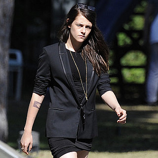 Kristen Stewart Tattoo on Sils Maria Set in Berlin