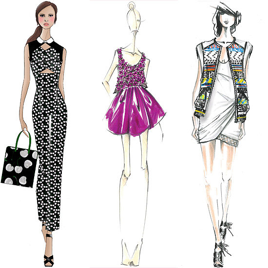 Designer Sketches Spring 2014 New York Fashion Week Popsugar Fashion