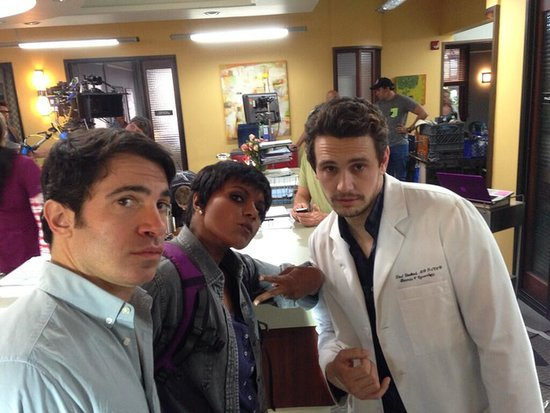 James Franco showed off his best Blue Steel as Dr. Leotard. Source: Twitter user ikebarinholtz