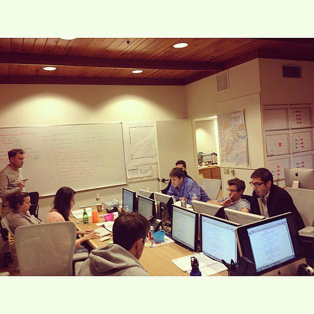 Kaling gave us a peek inside the writers' room. Source: Instagram user mindykaling