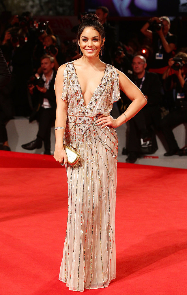 Vanessa Hudgens posed on the red carpet at the Spring Breakers premiere in 2012.