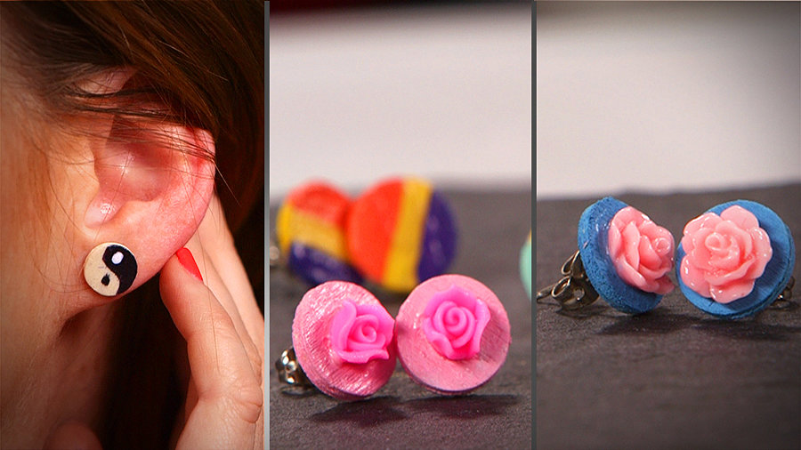 DIY: Circle Earrings