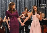 When she sings a duet with her mom, Shelby, it's a refreshing turn toward a more mature, vulnerable version of Rachel.