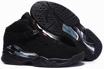 black sneakers jordan 8 for men