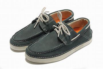 Mens Timberland Classic 2 Eye Boat Shoe Grey