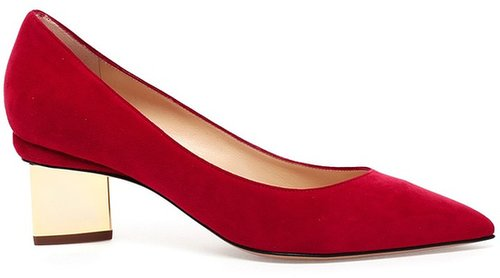 Nicholas Kirkwood Suede Pumps with Sculptural Heel