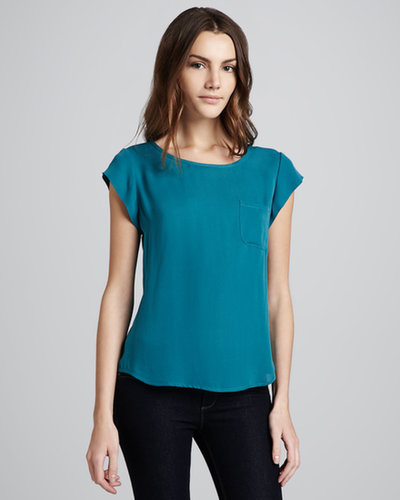 Joie Rancher Matte Silk Top, Gem