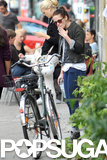 Kristen Stewart took some time off from filming to enjoy the sights in Berlin with her friends.