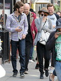 Emma Stone and Andrew Garfield laughed together during a day of sight-seeing in London.