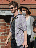 Andrew Garfield and Emma Stone went sightseeing in London.