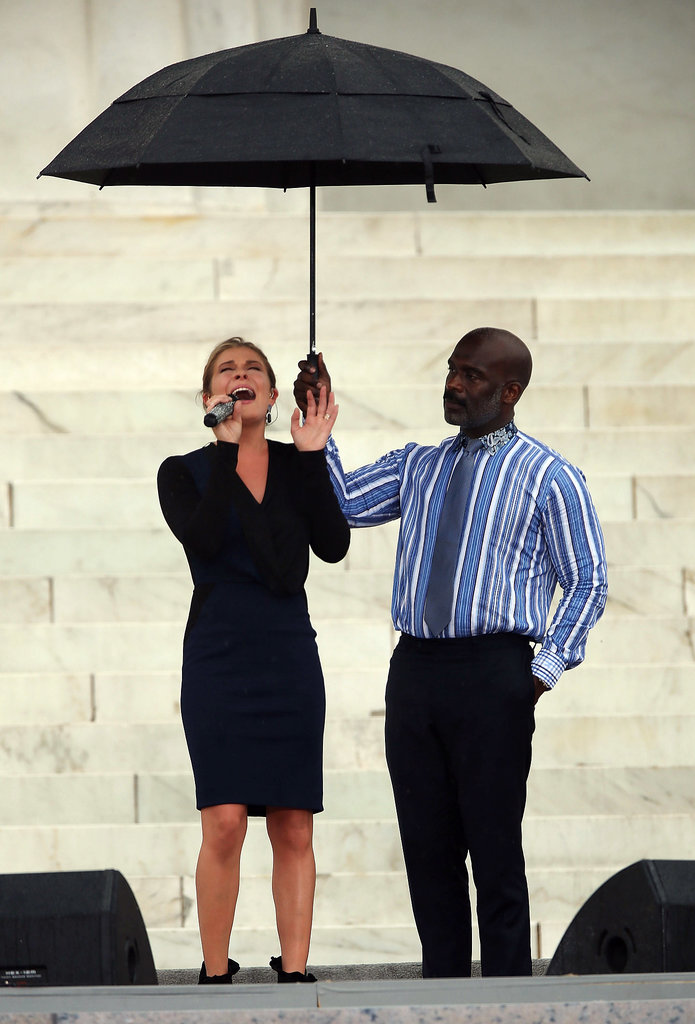 "LeAnn Rimes sang ""Amazing Grace"" during the anniversary event in Washington DC."