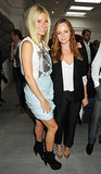 At a party in London in September 2009, Gwyneth looked feminine in  a light blue miniskirt, while Stella kept it menswear chic in a black suit.
