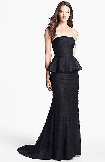 This black-tie-approved Adrianna Papell peplum gown ($278) rings in under $300 — and it's a total classic, too, so feel free to wear it again and again all season.