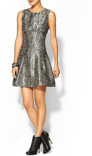 The high-shine finish on this Skies Are Blue metallic tweed dress ($69) will pair perfectly with your black tights and ankle boots for any Winter wedding.