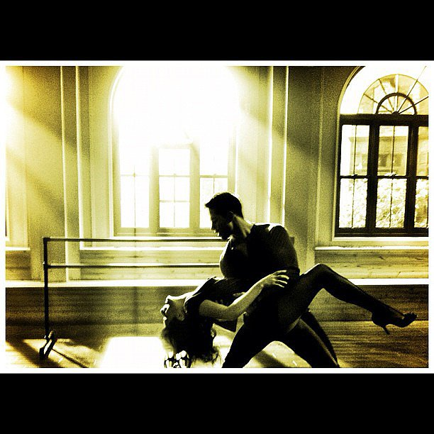 Lea Michele shared this steamy snap of a Glee dance rehearsal with costar Dean Geyer. Source: Instagram user msleamichele