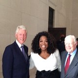 Oprah Winfrey linked up with Presidents Clinton and Carter at the Lincoln Memorial to honor the 50th anniversary of the March on Washington. Source: Instagram user oprah