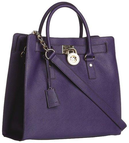 MICHAEL Michael Kors - Hamilton Large North/South Tote (Iris) - Bags and Luggage