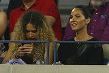 Olivia Munn was in the stands for the men's singles first round match.