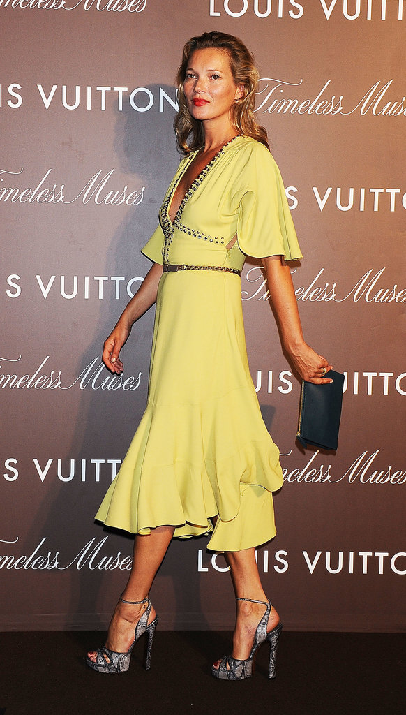 Kate Moss wore a Louis Vuitton dress.