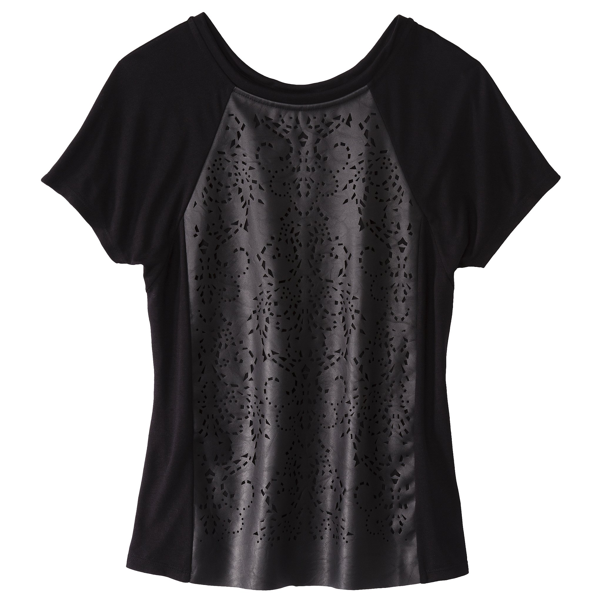 The laser-cut front on this Mossimo find ($25) makes it undeniably cooler than your average tee.