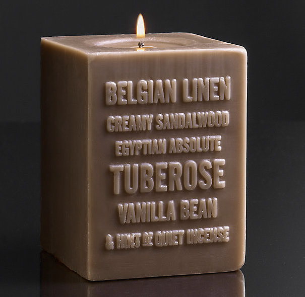 This Belgian Linen candle ($49) will fill your home with a warm vanilla bean scent.
