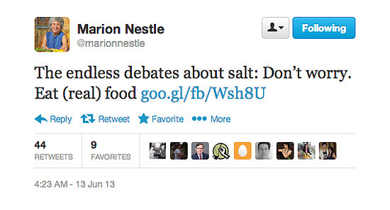 Who to Follow: Marion Nestle