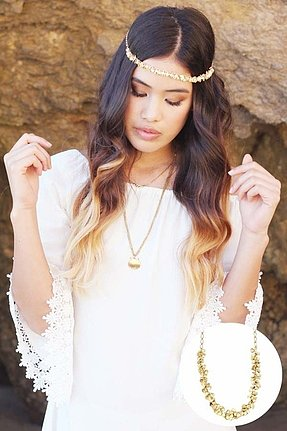 Hard Couture Serena Headpiece in Gold