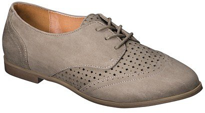 Women's Xhilaration® Lata Oxford Flat - Grey