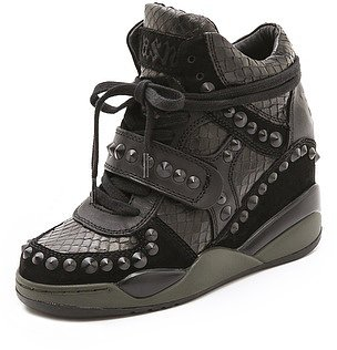 Ash Fancy Studded Wedge Sneakers