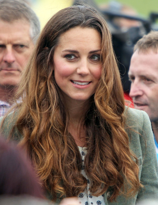 kate middleton first postbaby appearance hair popsugar