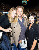 Dree Hemingway, Derek Blasberg, and Leigh Lezark sat courtside at the US Open in the Moët & Chandon Suite.