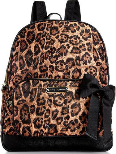 Betsey Johnson Handbag, Animal Quilted Backpack