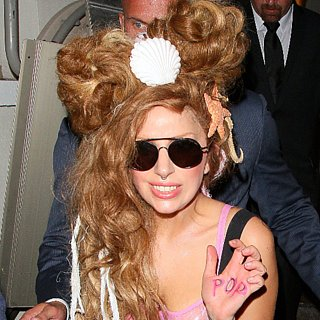 Lady Gaga Mermaid Hair August 2013