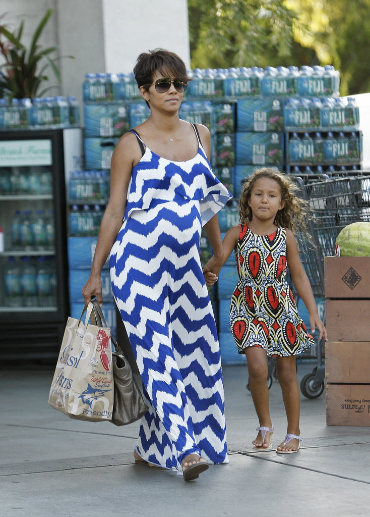Halle Berry spent Thursday shopping with her daughter, Nahla, in LA.