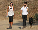 Nicole Richie joined actress Cara Santana on a hike through Runyon Canyon Park. The pair were joined by Nicole's dog!