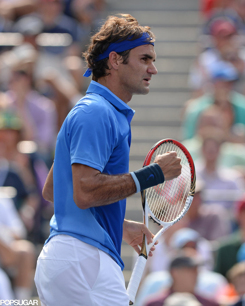 Roger Federer took the court on day four.
