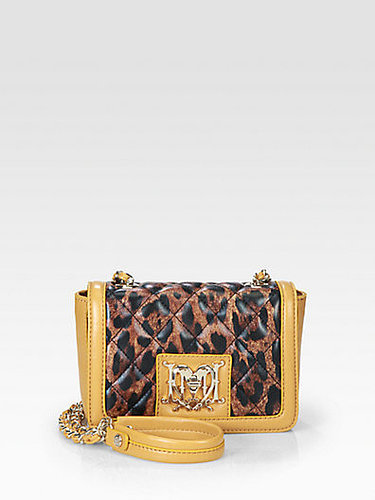 Love Moschino Leopard Quilted Mini Leather Shoulder Bag