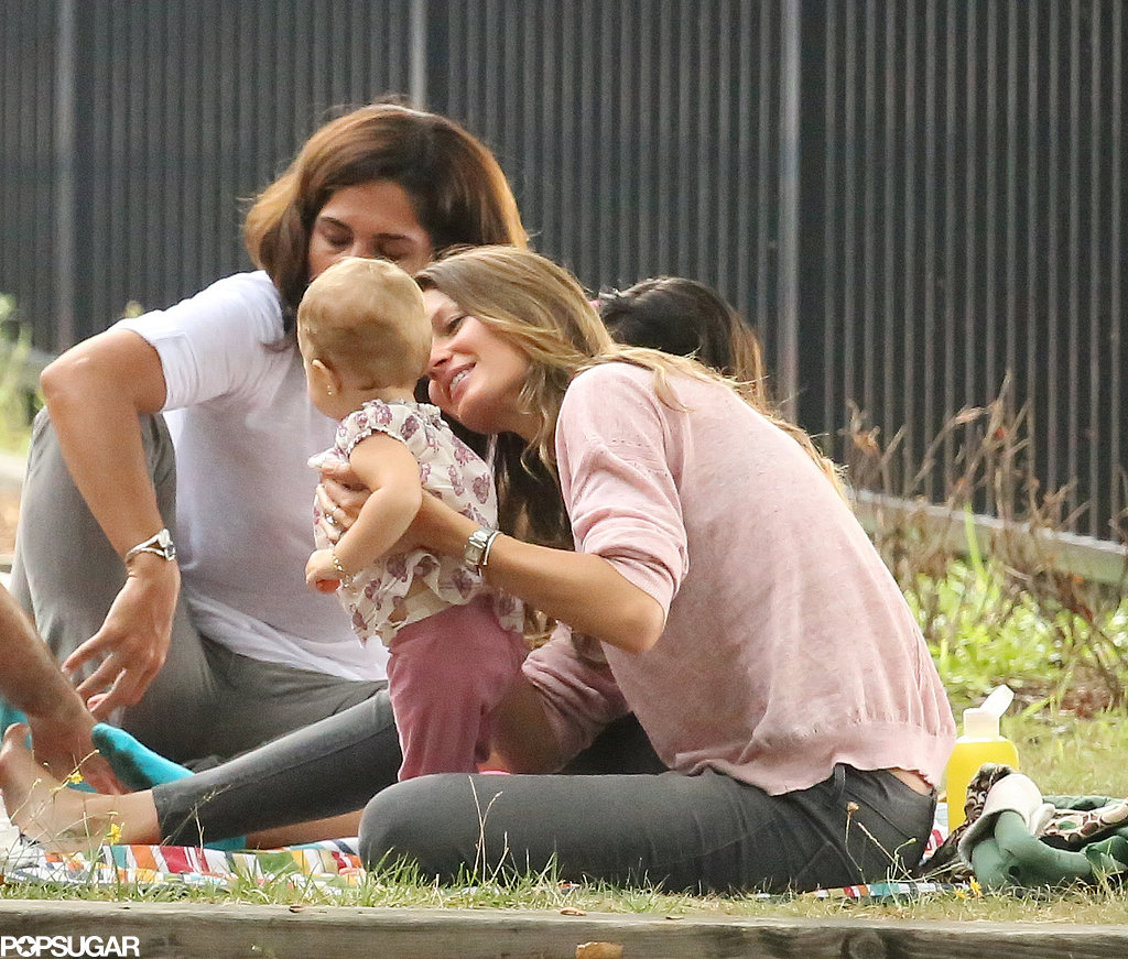 Gisele Bündchen brought Vivian to a playdate in Boston.