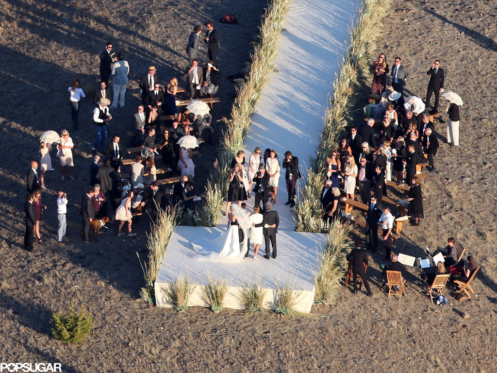 Close friends and family gathered for Kate Bosworth and Michael Polish's Montana ranch wedding.