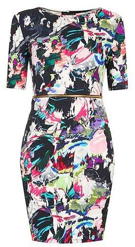 Topshop Zip Waist Body-Con Dress