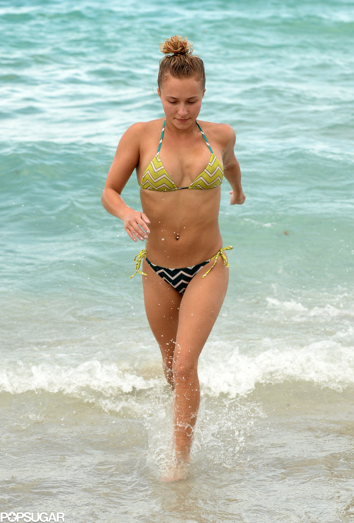 Hayden Panettiere sported a bikini while she was in Miami Beach over the holiday weekend.