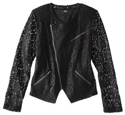 Mossimo® Women's Black Ponte Lace Jacket