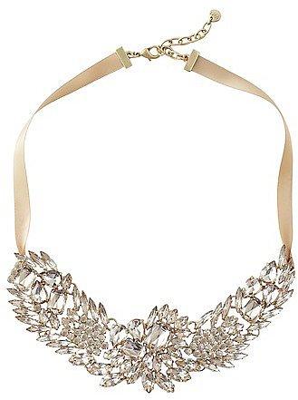 Short Crystal Bib Necklace