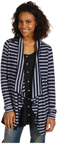 Red Dot - L/S Open Cardigan (Navy) - Apparel