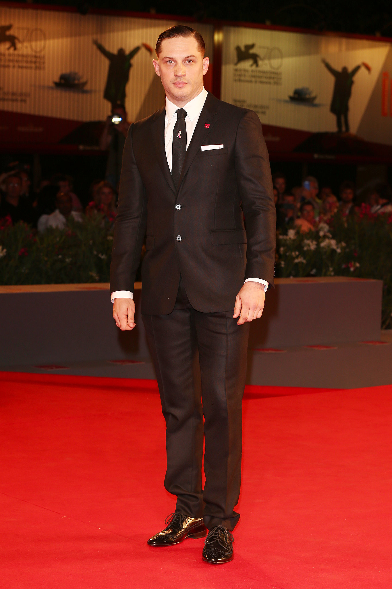 Tom Hardy attended the Locke premiere.