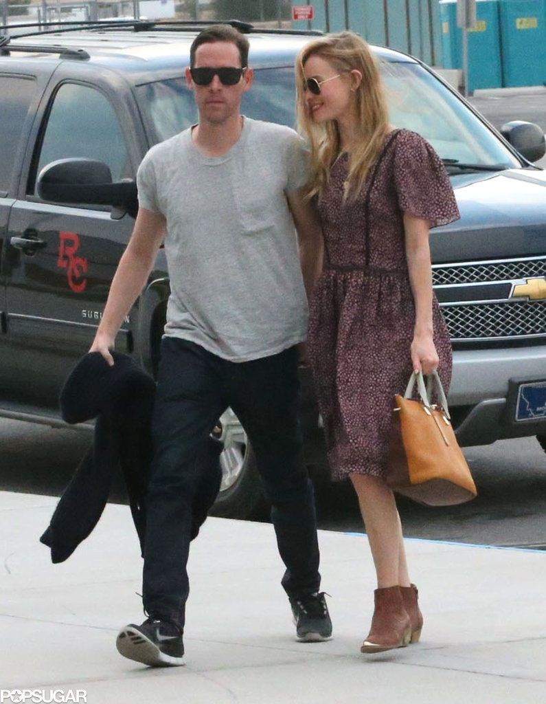 Kate Bosworth and Michael Polish headed to the airport.