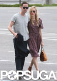 Kate Bosworth and Michael Polish caught a flight after their Montana wedding.