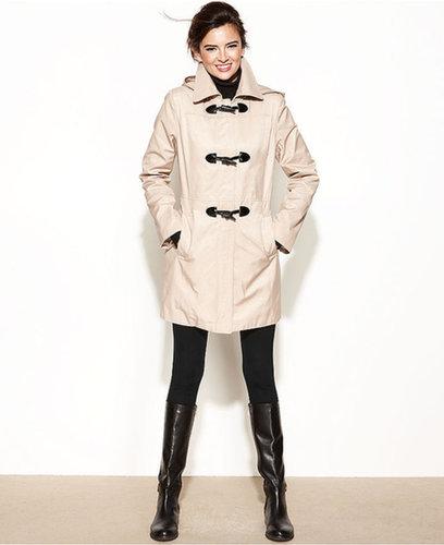 Nautica Coat, Hooded Toggle-Front Raincoat
